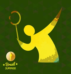 Brazil summer sport card with an yellow abstract t vector