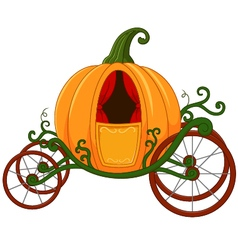Cartoon pumpkin carriage vector