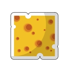 cheese slice isolated icon vector image