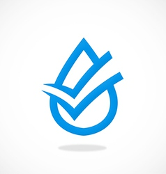 clean water check mark logo vector image
