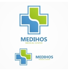 Cross plus medical logo vector image vector image