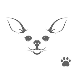 Cute chihuahua dog vector