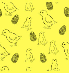 easter pattern drawing by vector image vector image