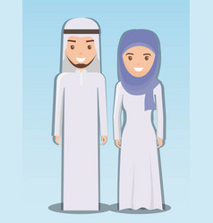 Family and social concept muslim couple vector