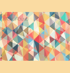 Flat triangle geometric wallpaper vector