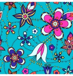 Flowers pattern colorful vector image vector image