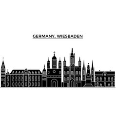 germany wiesbaden architecture city vector image