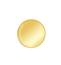 golden badge vector image vector image