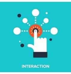 interaction vector image vector image