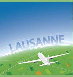 Lausanne flight destination vector
