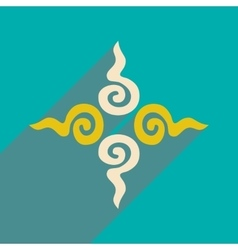 Modern flat icon with long shadow indian sign vector