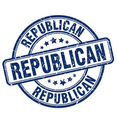 Republican blue grunge round vintage rubber stamp vector