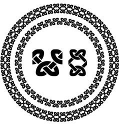 seamless ornamental knot frames vector image vector image
