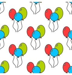 Seamless pattern with color balloons Festive vector image vector image