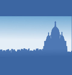 silhouette of france city ckyline scenery vector image