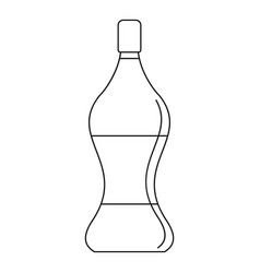 soda water icon outline style vector image vector image