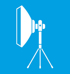 Studio lighting equipment icon white vector