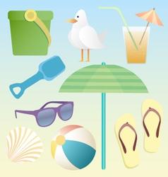 summer beach pack vector image