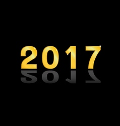 The 2017 gold vector image