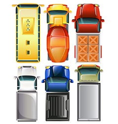 Topview of the vehicles vector image