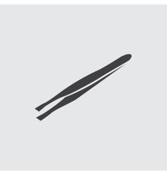 Tweezers icon vector