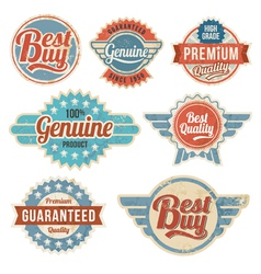 Vintage retro label banner design set vector