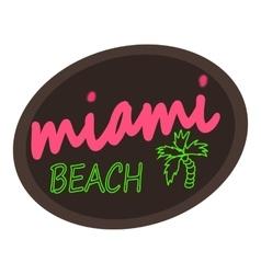 Miami beach logo cartoon style vector