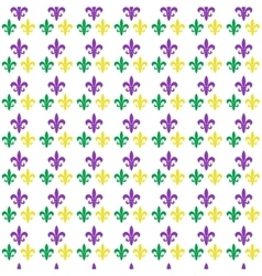 Mardi gras carnival seamless pattern with fleur-de vector