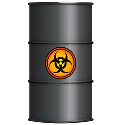Black barrel with biohazard sign vector image