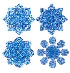 Hand drawn snowflakes vector