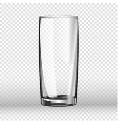 Realistic long drinking glass isolated on vector