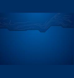 Dark blue hi-tech circuit board background vector