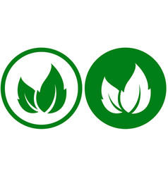Eco icons with leaf vector