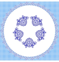 Blue cloth round vector