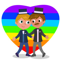 gay couple marriage vector image