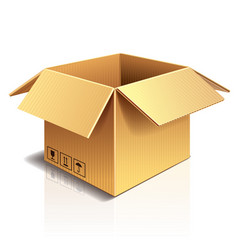 Object cardboard box vector