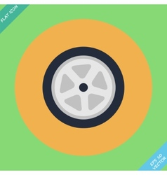 Auto wheel tire -  flat vector