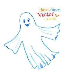 Cute smiling ghost vector
