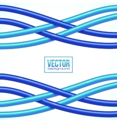 Blue crossing cables on white background vector