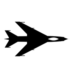 New flying jet fighter simple icon vector