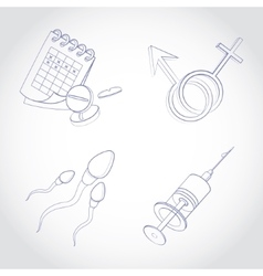 Gynecology icon set vector