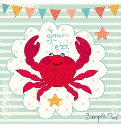 Cartoon Crab Background vector image