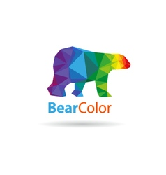 Bear abstract triangle vector