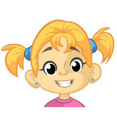 cartoon funny girl head vector image