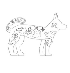 Chinese new year dog silhouette vector