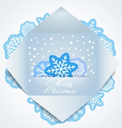 Color polygonal christmas greeting card vector