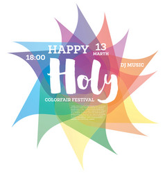 Colorful happy holi background vector