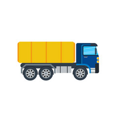 Commercial truck isolated icon vector