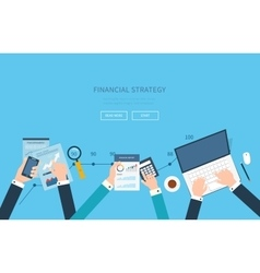 concept of analyzing project vector image vector image