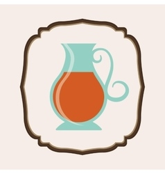 Delicious tea drink vector